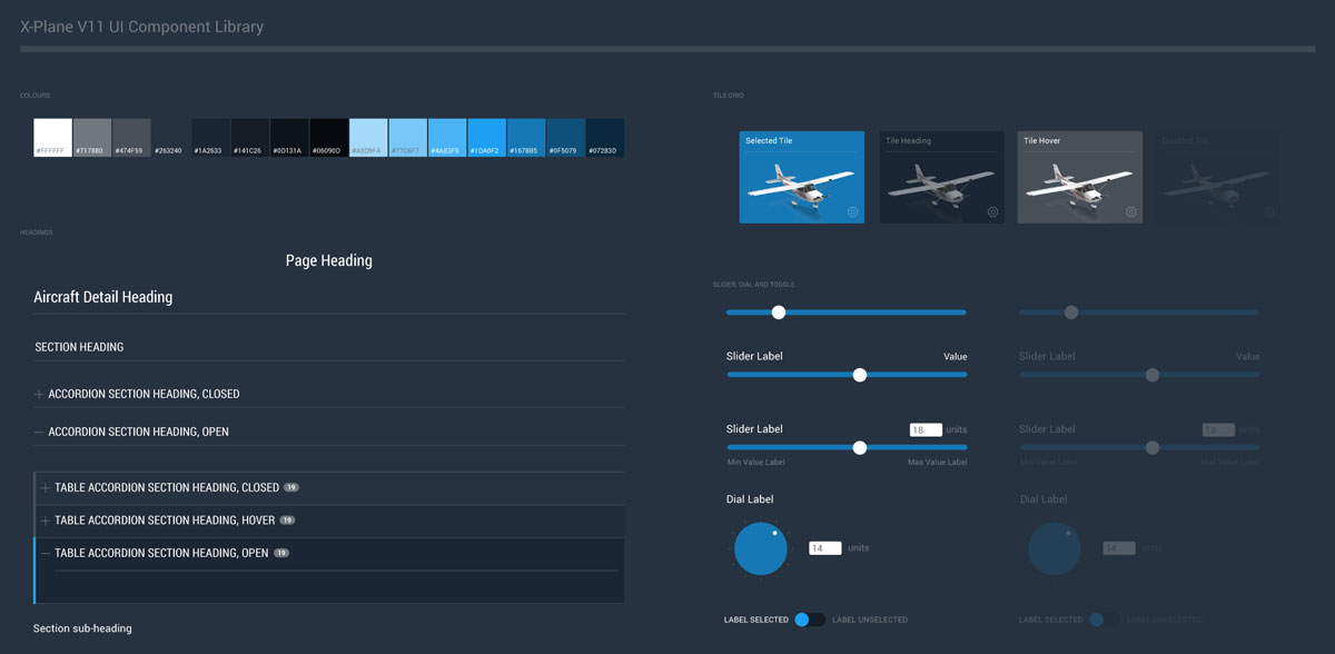 x-plane UI component library